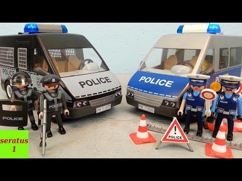 Playmobil Mannschaftswagen und Polizeibus Vergleich seratus1