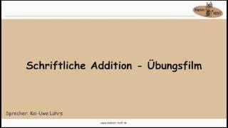 1.1.2 SCHRIFTLICHE ADDITION ÜBUNGSFILM