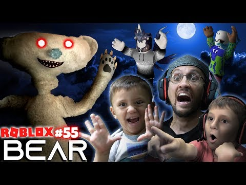 SCARY ROBLOX GAME!  BEAR CHASE! 🐻 = 🏃 FGTeeV Creepy Hide and Seek (#55)