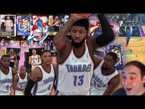 NBA 2K19 My Team OKC THUNDER & SONICS SQUAD BUILDER! OPAL PAUL GEORGE CARRYING!!!