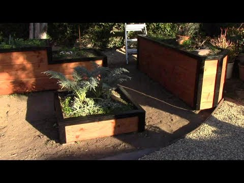 Backyard Ecological Landscape Finishing Touches on the Garden Boxes