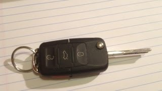 DIY How To Replace Battery On A VW Key FOB Transponder Volkswagen Jetta Golf Beetle Passat