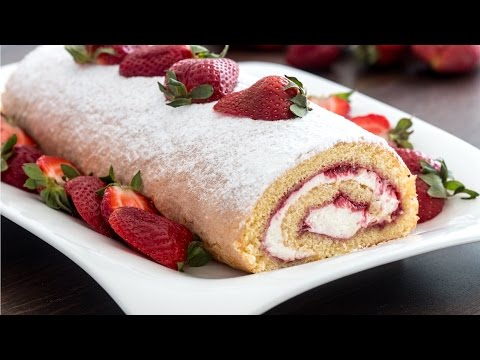 Video Strawberry Swiss Roll Recipe