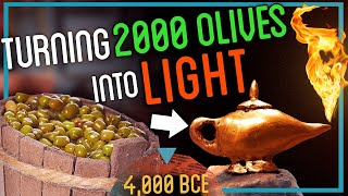 LET THERE BE LIGHT! Crushing 2000 Olives to Make Lamp Oil