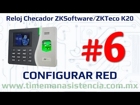 Reloj Checador K20 [Parte 6] - Configurar enlace de Red | ZKSoftware | ZKTeco | Huella Digital
