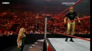 the return of Goldust  to WWE (Goldust vs Santino Marella)
