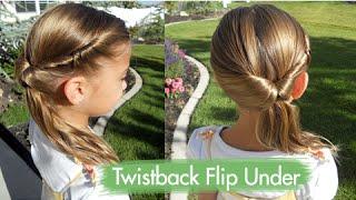 Twistback Flip Under   Cute Girls Hairstyles
