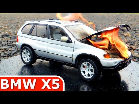 Burning My BMW X5! The Car Is On FIRE! Toy Car BURNOUT 2