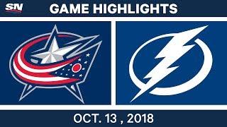 NHL Highlights | Blue Jackets vs. Lightning - Oct. 13, 2018