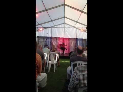 Simon Drew at the Open Mic - Priddy Folk Festival 2013