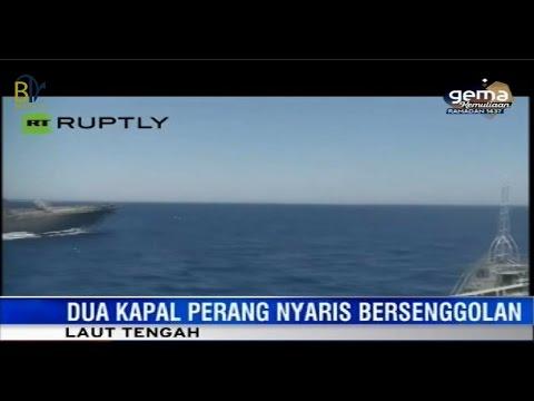 Berita Terbaru Hari ini - Insiden Patroli Kapal Laut Amerika dan RUSIA Hampir Bertabrakan