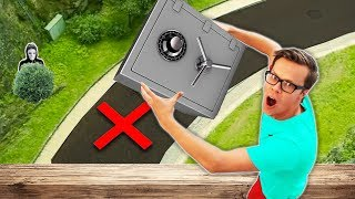 Dropping Game Master Safe from 45 Ft. High (Found Secret Spy Gadgets & New Clues inside)