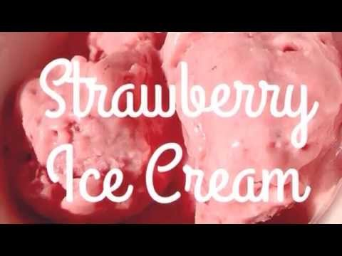 Video Paleo Strawberry Ice Cream