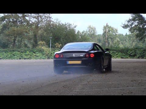 Ferrari 575 M Maranello GTC: Burnout, Drifts, Ride, Startups & Revs!