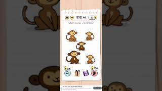 Brain test Level 46 which monkey is carsick Walkthrough