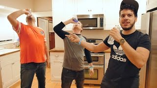 E3 2015 - WATER BOTTLE CHALLENGE with OpticJ and TypicalGamer!! EPIC Youtuber Showdown!