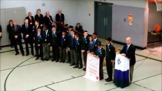 Bob Neibert acknowledges CAIS U13 double champions