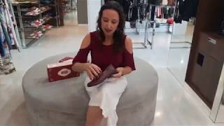 Vídeo Sapato Rasteiro em Couro J.Gean Dual Confort Cor Bordô