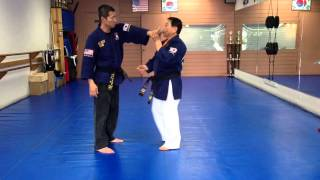 Hapkido One Hand Wrist Grab Defense 15-17