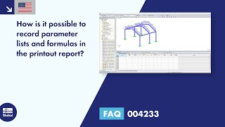 FAQ 004233 | How can the parameter list and formulas be documented in the printout report?