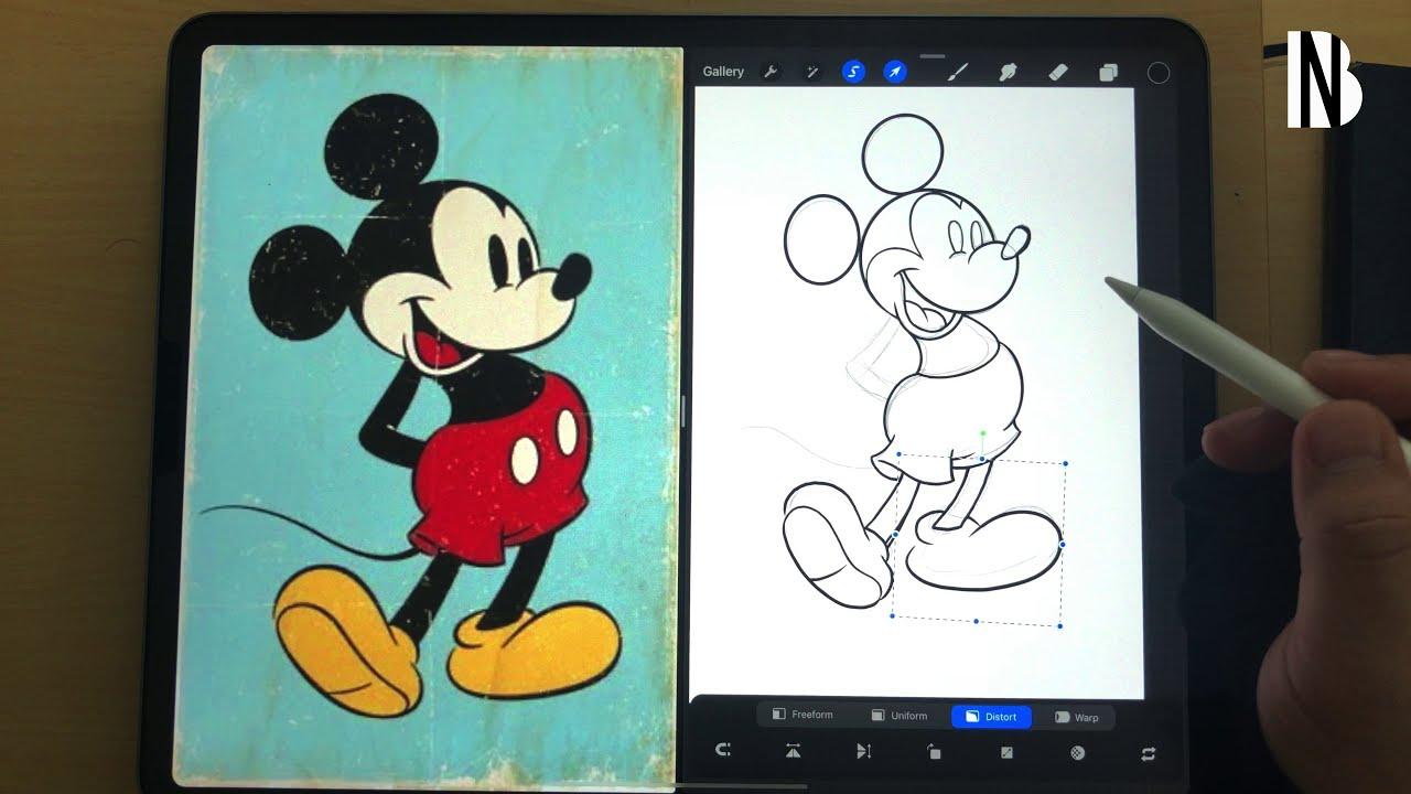 digital art mickey mouse procreate using ipad pro by billynotbully