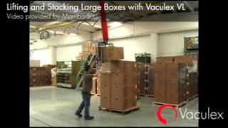 Lifting and Stacking Large Boxes with Vaculex VL