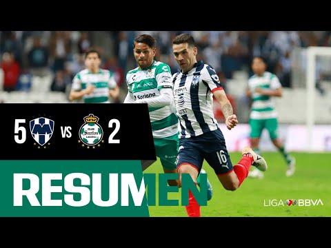Resumen: Monterrey 5-2 Santos | Cuartos de Final Ida Apertura 2019