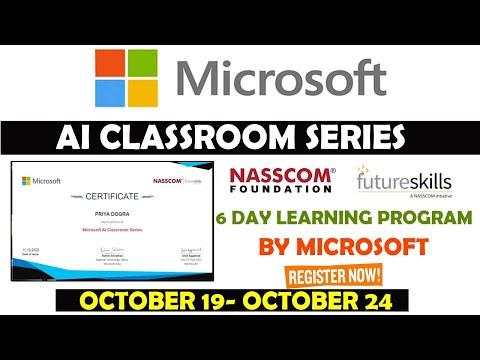 Microsoft Free Certification Courses | Microsoft AI Classroom Series ...