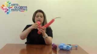 Cursos de Globos Globoflexia: Perro ( Dog cão ) en twister 260 balões