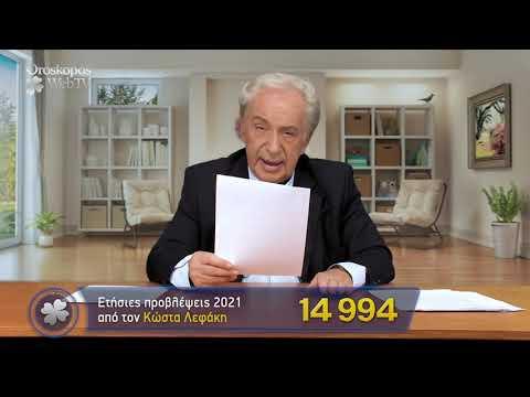 Αιγόκερως 2021 Ετήσιες Προβλέψεις Κώστα Λεφάκη σε βίντεο
