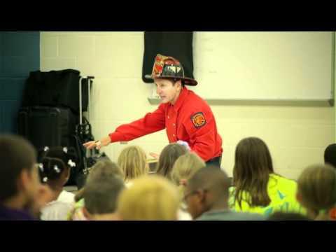 "Fireman Jim Safety Shows - ""Crawling Low in Smoke"""