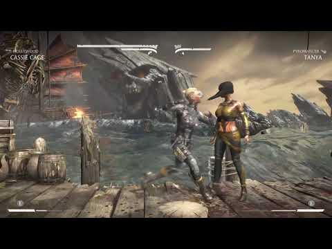 Mortal Kombat X Cassie Cage vs Tanya