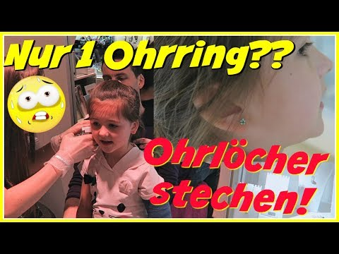 Ohrringe für Ava | Nur 1 Ohrring?? Gab es Tränen beim Ohrlöcher stechen??💕Geschichten und Spielzeug