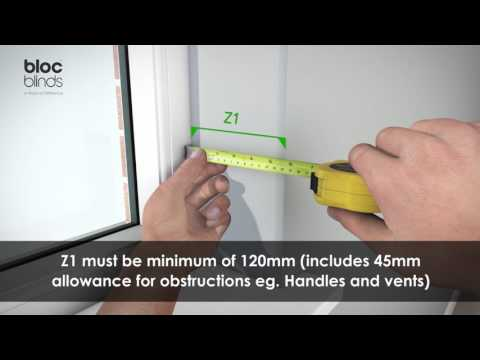 How to Measure - Premium Roller Blind - Recess Fitting