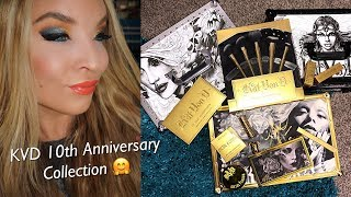 Kat Von D 10th Anniversary Collection : Review : Demo : Swatches - Video Youtube