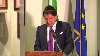 L'intervento del Presidente Conte durante la visita alla Comunità Ebraica romana