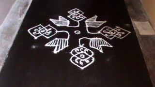 Latest Easy Rangoli Designs With Dots || Beautiful Kolam Designs With Dots || Key For Girls