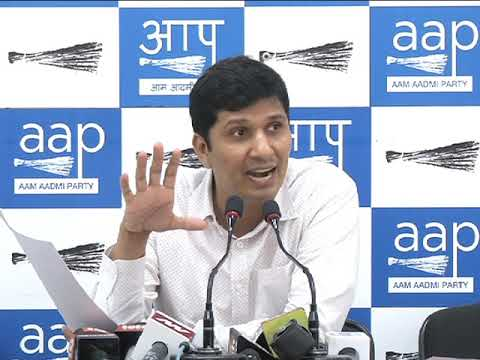 AAP Press Brief on Land Allocated to Center Minister Vijay Goel.