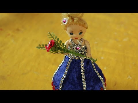 Diy Craft Ideas With Waste Material How To Make Dress For Doll Art
