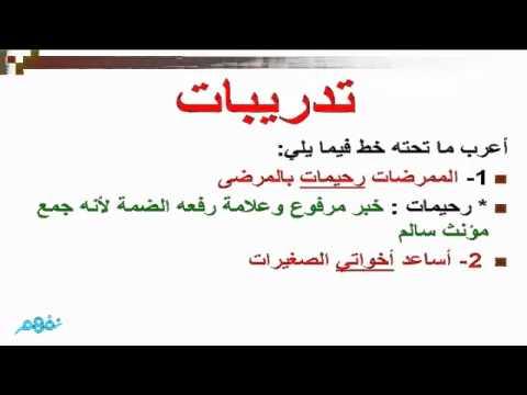شرح درس إعراب جمع المؤنث السالم اللغة العربية الصف الخامس الابتدائي نفهم