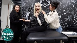 GETTING MATCHING TATTOOS WITH MY BEST FRIEND | Vlogmas Day 12