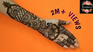 Beautiful Arabic Henna Design | Easy Arabic Mehndi Design For Front Hand | #110 Zara Mehendi Art