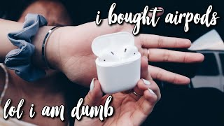 i impulsively bought airpods ***mediocre unboxing and review***