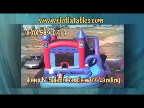 'Jump N' Splash Castle' Bounce House with Landing | eInflatables