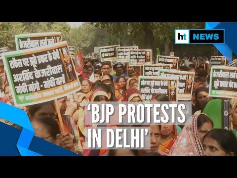 BJP protests in Delhi, demands Kejriwal's apology over Rafale allegations