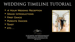 Wedding Reception Program or Itinerary Tutorial - DJ's Entertainment Perspective
