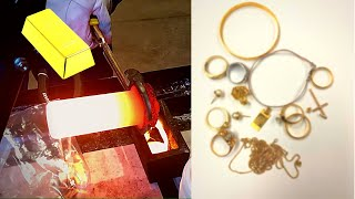 Turning Gold Jewelry Into GOLD BAR