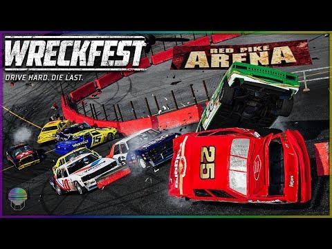 FRIGHTENING FIGURE 8! [Red Pike Arena!] | Wreckfest | NASCAR Legends Mod