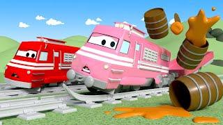 Vláčky pro děti - Vysávací vlak Troy na soutěži v pojídání palačinek - Vláček Troy ve Městě Aut