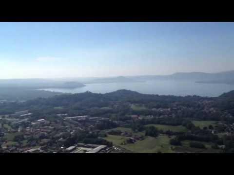 La vista dalla balconata a Sangiano